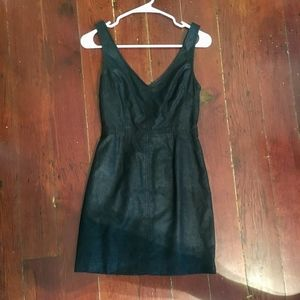 Urban Outfitters Cutout Back Waxed Mini Dress 0 XS